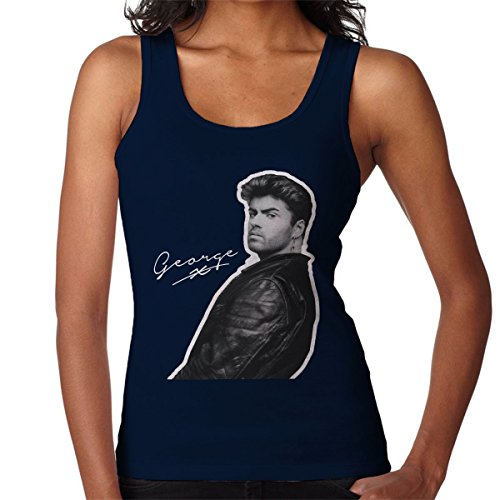 George Micheal Signature Women's Vest Navy blue