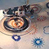 JOYOOO Flores decorativas puntada pie prensatelas máquinas de coser domésticas para El Hermano, Babylock, Viking, Janome, Kenmore