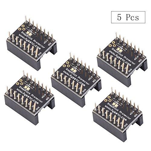 Accesorios de placa base para impresora 3D, FYSETC, partes de motor paso silenciosas que protegen el filtro de grano de la A4988 LV8729 DRV8825 TMC2100 TMC2208 TMC2130 Driver, 5 unidades