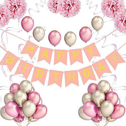 PushingBest Geburtstagsdeko, Sicherheit Material Neu Design Perfekte Dekoration Einzigartige Erinnerung Geburtstag Dekoration für Kinder, Männer und Frauen