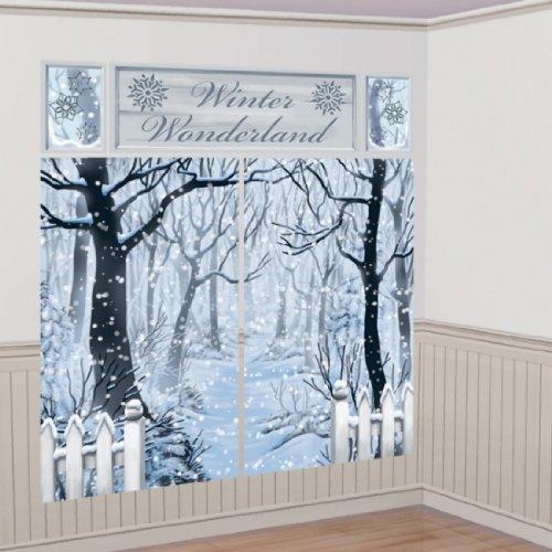 Party Parade Winter Wonderland Scene Setter Dekorieren Kit