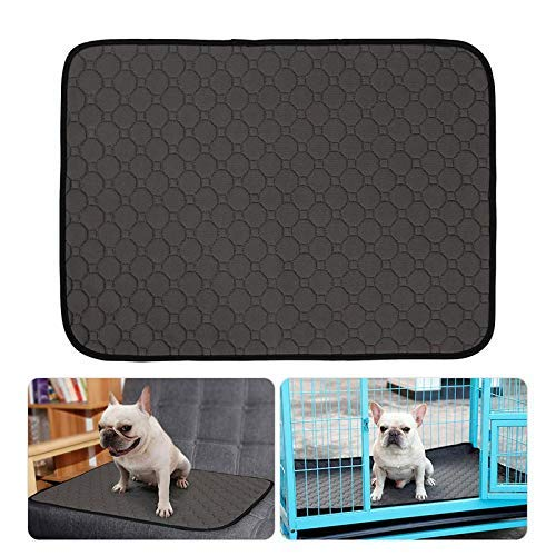E-CHENG Pet Pee Pad Reusable Washable Dog Training Pee Pads, Anti-Slip Waterproof Bed Mat Puppy Training Trainer Pads Toilet Pee Wee Mats Grey L -