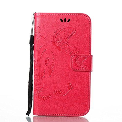 EKINHUI Case Cover Horizontale Folio Flip Stand Muster PU Leder Geldbörse Tasche Tasche mit geprägten Blumen & Lanyard & Card Slots für MOTO G5 ( Color : White ) Rose
