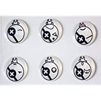 Xtra-Funky Esclusivo 6 in 1 Confezione Adesivi pulsante Home per iPhone 3/3G/3GS/4/4S/5/5S/5C , iPod Touch (All Gen) e iPad 1/2/3/4/5/Mini / Air - Bombe