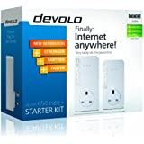 Devolo dLAN 650 Triple+ Powerline Starter Kit (3 GB LAN Ports, Pass Through, 600 Mbps)