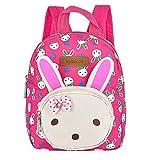 Kinderrucksack, ToWinle Vorschulrucksack Niedlich Kleiner Rucksack Kindergartentasche Kindergarten Rucksack Baby Backpack Mini Schultasche mit Häschen