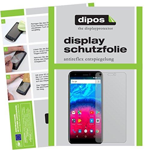dipos I 2X Schutzfolie matt passend für Archos Core 55S Folie Displayschutzfolie