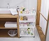 Yxx max storage Bathroom Bathroom Shelf Shelving Unit Bathroom Storage Rack Trolley Toilet Shelf (Size : B)