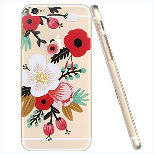 iPhone SE Case, iPhone 5S 5 Silicone Cover, UCMDA Soft Transparent Clear Slim Bumper Case, Shock-Absorption Cover with Anti-Scratch Back - Cute Panda Blume