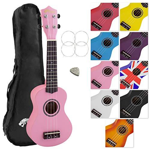Tiger principianti e ukulele soprano, rosa