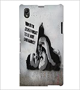 PrintDhaba Quote D-5438 Back Case Cover for SONY XPERIA Z1 (Multi-Coloured)