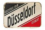 Fuß Hunde Matte Bett Fernweh Stadt Düsseldorf Deutschland bedruckt 40x60 cm