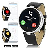 inDigi Fitness Bluetooth Smart Watch Phone Siri Voice Control Built in Heart Rate