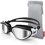 Zionor Zwembril Unisex | Gepolariseerde lenzen voor oogbescherming tegen zonlicht | Voor outdoor zwemmen en andere watersporten | Hoogwaardige siliconen afdichting | Verstelbare bandjes, geschikt voor alle gezichtsvormen | Anti-fogbescherming en UVA/UAB-bescherming | Inclusief beschermhoesje