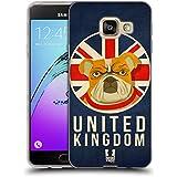 Head Case Designs Royaume-Uni Animaux Patriotiques Étui Coque en Gel molle pour Samsung Galaxy A3 (2016)