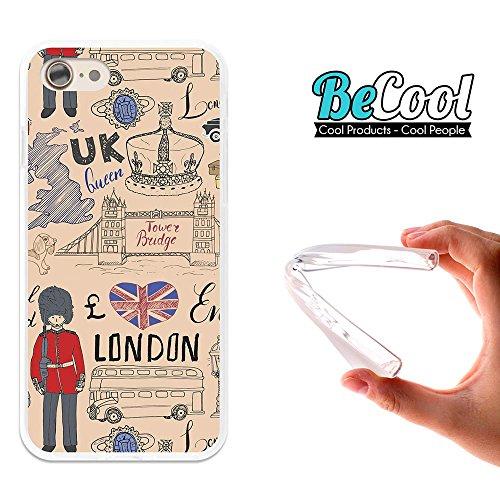 BeCool®- Coque Etui Housse en GEL Flex Silicone TPU Iphone 8, Carcasse TPU fabriquée avec la meilleure Silicone, protège et s'adapte a la perfection a ton Smartphone et avec notre design exclusif. Vie L1624