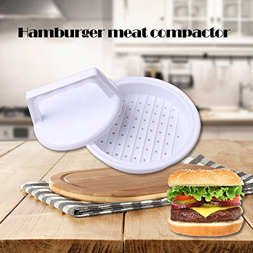 Rubility® DIY Hamburger di Carne Compattatore / Press Patty Stampista Cucina Macchina --- Bianco