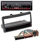 caraudio24 JVC KD-X252 1DIN AUX USB MP3 Autoradio für Ford Focus Cougar Escort Fiesta Ablagefach