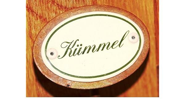 Kräuterschild Kräuterstecker Emaille Kümmel Erdspieß 25 cm