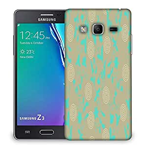 Snoogg Green Floral Designer Protective Phone Back Case Cover For Samsung Galaxy Tizen T3