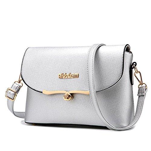 HQYSS Damen-handtaschen Koreanische PU Leder Cross Body Small Square Paket Frauen Handtaschen Umhängetasche Messenger light gray
