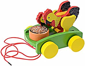 DANNIQITE Chicken Pull Line Car Baby Kids Early Walking Toy Vehicles Baby