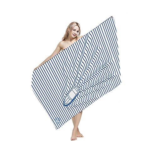 Fahrt Bikini (Großer Badetuch-Pool Fahrt mit dem Schnellboot auf dem Wind und trockenem Strandtuch Microfiber Print Strandtuch Badetuch (Farbe : Weiß, Größe : One siize))