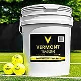 Vermont Balles de Tennis d'Entraînement [Seau...