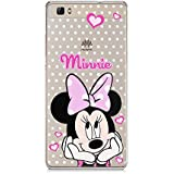 P8 Lite TPU Funda Gel Transparente Carcasa Case Bumper de Impactos y Anti-Arañazos Espalda Cover, Cartoon, Dibujos animados, Disney Special Colección Collection, Minnie Mouse Lunar, Huawei P8 Lite