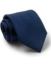 Savile Row Men's Navy Textured Silk Tie