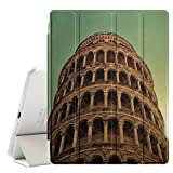 Graphic4You Pisa Tour Italy Postcard Design Ultra Slim Case Smart Cover Stand [with Sleep / Wake Function] for Apple iPad 2 / 3 / 4