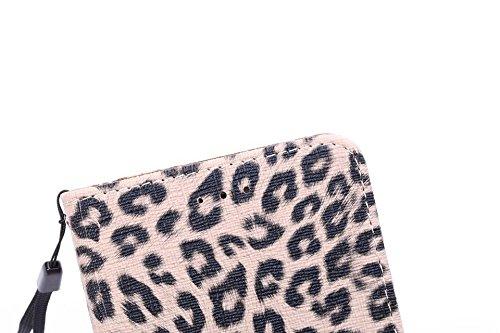 EKINHUI Case Cover Leopard Print Style Premium Leder Tasche Folio Flip Stand Case mit Card Slots & Lanyard & Magnetverschluss für IPhone 6 & 6s ( Color : Yellow ) Brown