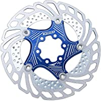 SinceY Mountain Bike Floating Cooler Rotor 203mm Six Nail Discs Brake Pads Disc Centre Lock, Stainless Steel Floating Bicycle Disc Brake 203MM Bike Rotor Mountain Cycling Part