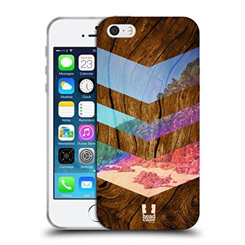 Head Case Designs Pine Trees Nature Wood Prints Soft Gel Hülle für Apple iPhone 5 / 5s / SE Sea Side