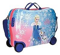 Questa valigia cavalcabile di Frozen vi lascerà senza fiato. Ha molteplici modi di utilizzo. Scegli se preferisci cavalcare su di esso, tirarla o lasciarla andare. Tutti i vostri vestiti saranno organizzati grazie alle bande elastiche interne...