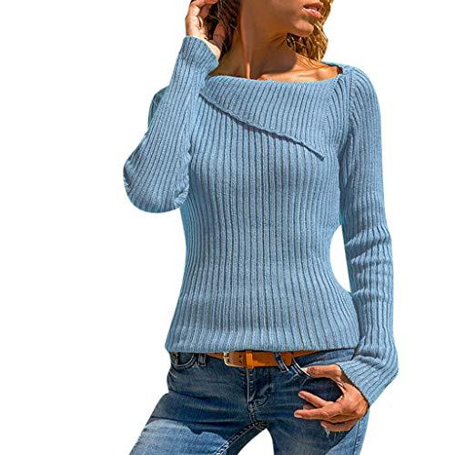 Mymyguoe Frauen Beiläufige Tops Hülse Drehen Unten Kragen Langarmshirts Männer Langarm Tuniken Blusen Crop Top Shirts T-Shirts Pullover Oberteile Strickpullover