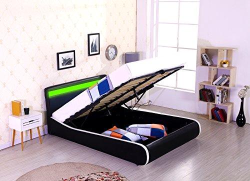 espirit-led-designer-bed-gas-lift-storage-ottoman-faux-leather-double-4ft6-black-white