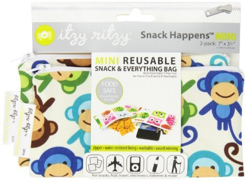itzy-ritzy-snack-happenssnack-mini-reusable-snack-bag-funky-monkey-remix-2-count-discontinued-by-man