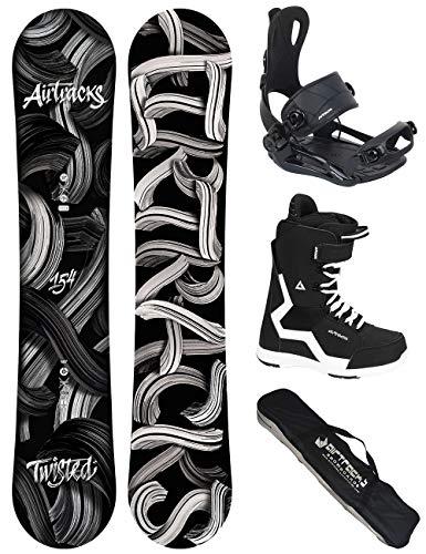 Airtracks Snowboard Set - TAVOLA Twisted Wide 154 - ATTACCHI Master - Softboots Savage Black 42 - SB Bag
