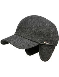 c60f717e2c5 Wigens Kent Melton Baseballcap Schirmmütze mit Ohrenklappen aus Wolle -  anthrazit