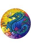 Dragon Fire, Design Mandala, Zweiseitig, Rund, Fenster Aufkleber-Versandkostenfrei!