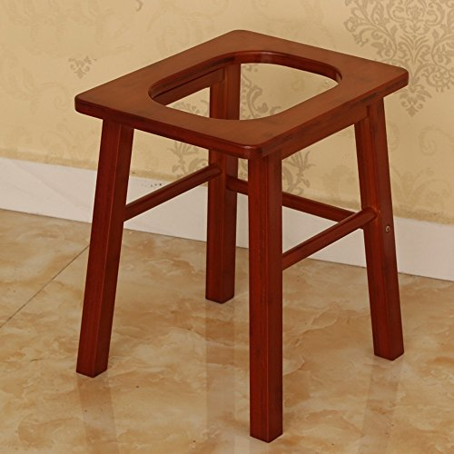LJHA Chairs Creative Bamboo Toilet Stool/Pregnant Women Patient Portable Commode/Moveable Toilet Seat/Old Man Disabled Bathing Stool 33 * 32 * 41 Cm Stools