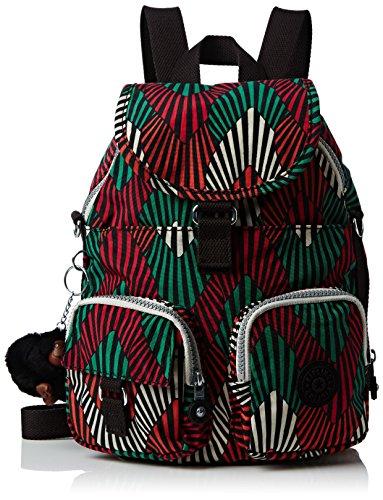 KiplingFIREFLY NEW - Borsa a Zainetto Donna , Multicolore (Mehrfarbig (Tropic Palm Combo Teagan 29J)), 22x31x14 cm (B x H x T)