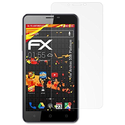 atFolix Schutzfolie kompatibel mit Archos 55b Platinum Displayschutzfolie, HD-Entspiegelung FX Folie (3X)