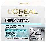 L 'Oréal Paris Triple Activa Crema hidratante protectora para pieles normales o mixtas - 9 unidades de 50 ml [450 ml] Para cabellos normales o mixtos