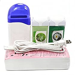 UBO New 4 in 1 Roll on Refillable Depilato Hot Wax Heater Waxing Hair Removal Cartridge Kit Warmer Salon. . . , USA
