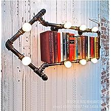 kinine Antiguo corredor industrial balcón loft creativa americana lámpara de pared de tubo de hierro estudio flecha el Bar Cafetería lámparas de pared