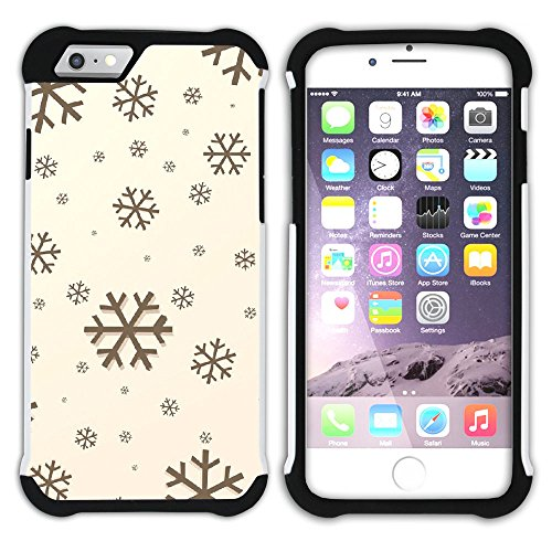Graphic4You Schnee Schneeflocke Winter Muster Hart + Weiche Kratzfeste Hülle Case Schale Tasche Schutzhülle für Apple iPhone 6 / 6S Design #17