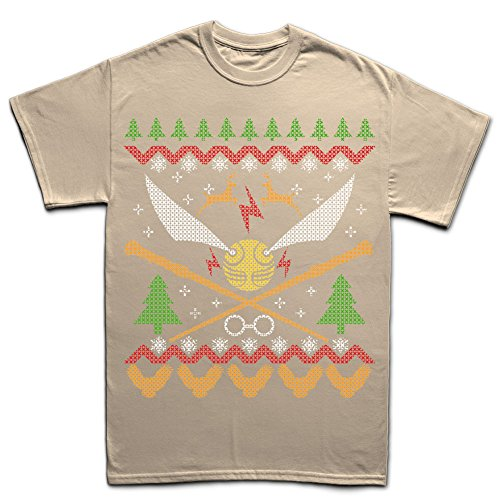 Customised Perfection HarryWizardMagicXmasUglySweaterT ShirtSND4XL XXXXL Sand