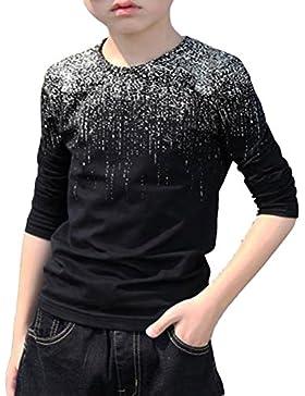 ARAUS Ninos Ropa Camisa T-shirt Manga Larga Cuello Redondo Bebe Ropa 3~4anos